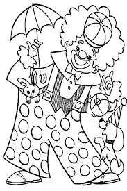 Clown Playing With Animal Circus Coloring Page Color Luna Circus Coloring Page