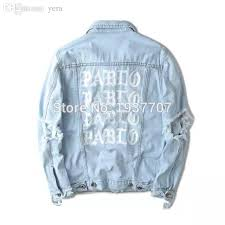 Light Denim Jacket Fall Light Blue Denim Jacket Kanye West Pablo Album Souvenir