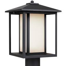 Outside Post Light Fixtures Modern Rectangles Outdoor Post Light Shades Of Light