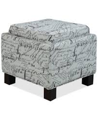 Ottoman Script Jla Kylee Script Fabric Accent Storage Ottoman With Pillows