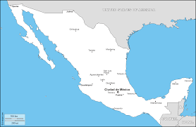 Map Of Mexico States And Cities by Mexico Free Maps Free Blank Maps Free Outline Maps Free Base Maps