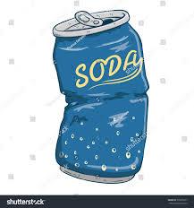 Soft Blue Color Broken Soda Can Soft Drink Blue Stock Vector 330655817 Shutterstock
