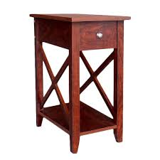 X Side Table Espresso Wooden X Side End Table Free Shipping Today Overstock