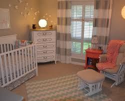 Grey White Striped Curtains Nursery Decor Ideas Picture Nursery With Striped Curtains In White