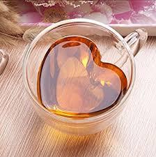 heart shaped mugs kiwilife heart shaped wall clear glass tea cup