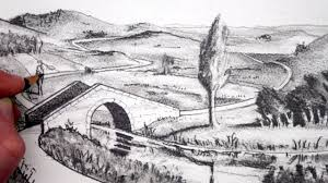 how to draw a landscape pencil drawing narrated youtube