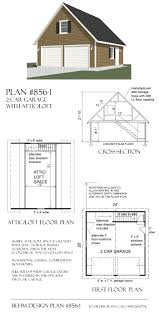 2 car garage with loft plan 856 1 24 u0027 x 26 u0027 by behm designbehm