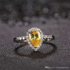 luxury engagement rings images Luxury engagement ring white gold plated ring big shiny cz diamond jpg