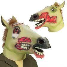 horse evil animal head mask creepy halloween costume theater prop