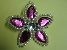 hair brooch design hair accessories pearl flower
