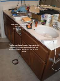 wild whitney u0027s inexpensive flooring update for 300 bathroom re do