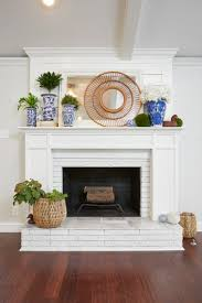 inspiring decorating ideas for mantels brick fireplace photo