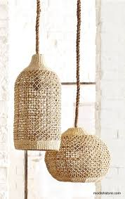 Nautical Lamps Roost Abaca Woven Pendants Pendant Lamps Pendants And Store