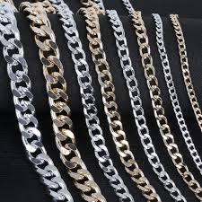 plated necklace chains images 1 5 meter lot silver gold aluminum plated necklace chains brass jpg