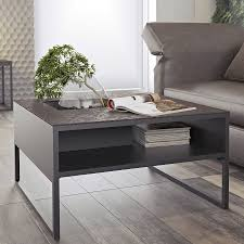 Ceramic Accent Table by Sigma Black Modern Coffee Table Eurway Modern Furniture