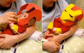 Preemie Halloween Costume Dad Builds Iron Man Costume Premature Son Eric Hart U0027s Story