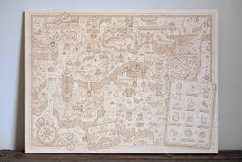 Beautiful World Map by Beautiful Super Mario World Map On Wood Tiny Cartridge