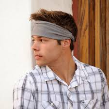 headbands for men mens headband gray headband large from randomlyspecific