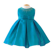 turquoise pleated poly baby gown blue baby dresses pinterest