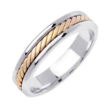 two tone wedding rings two tone wedding bands beverlydiamonds