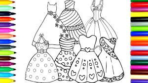 coloring beautiful princess dresses drawing pages color