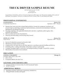 Good Resume Objective Samples Cdl Driver Resume Sample Truck Driver Resume Is One Of The Best