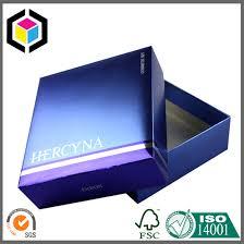 metallic gift box metallic color print cosmetics gift box