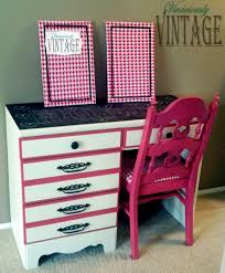 painted desk ideas unique desk with drawers and pink painted wood traditional chair