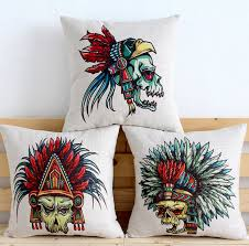 parade throws wholesale skull pillow cover indian pillow fashion