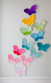 Butterfly Wall Decals For Kids Rooms by 3d Fabric Butterfly Wall Decor For Girls Room Nursery Decor