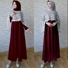gamis modern jual gamis pesta brokat baju muslim wanita jubah gamis modern
