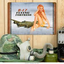 jeep pin up girls vintage pin up girls wwii retro pin up girls tin sign at