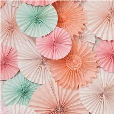 cheap paper fans 5pcs lot different size tissue paper fan decorative flowers