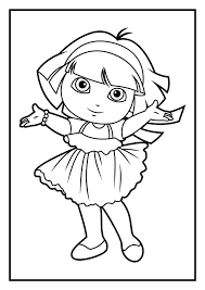dora coloring pages free printable dora the explorer coloring