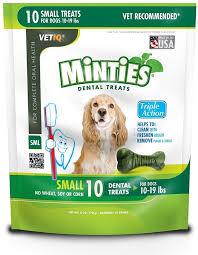 vetiq minties small dental bone treats for 10 19 pound dogs no