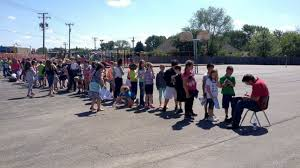 where to find yearbooks illinois second graders adore school janitor line up to get