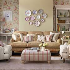 Vintage Living Room Retro Living Room With Pretty Prints Living - Vintage style interior design ideas