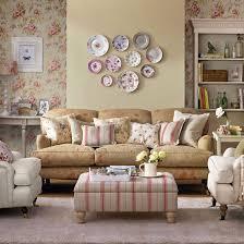 Vintage Living Room Retro Living Room With Pretty Prints Living - Vintage design living room