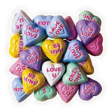 necco hearts chocolate conversation hearts 5 lb bag candy