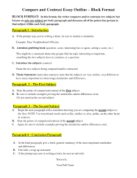 comparison and contrast essay samples free resume templates examples chronological resumes samples 85 awesome resume outline example free templates