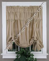 Tie Up Valance Curtains Tie Up Valance Taupe United Kitchen Valances