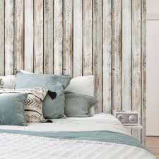 Wooden Wall Bedroom White Vintage Wood Wallpaper Peel And Stick Wood Wall Paneling