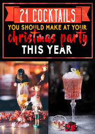 21 easy christmas party cocktails to make this year
