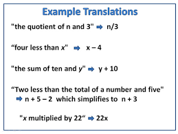 translate word equations passy u0027s world of mathematics