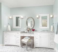 Makeup Bathroom Vanity by Bathroom Lovely White Double Bathroom Vanity With Makeup Area