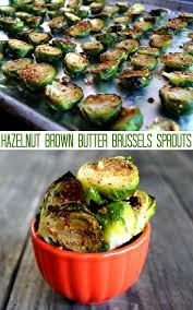 hazelnut brussels sprouts with brown butter cooking on the weekends