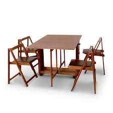 Folding Dining Table Sets Buy Compact Four Seater Folding Dining Set In India
