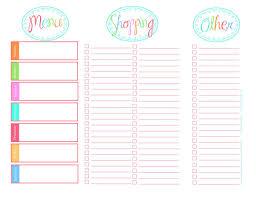 printable menu planner pages menu planning template meal planning charts helpful meal planning