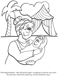 abraham and sarah baby isaac coloring page cowclub crafts
