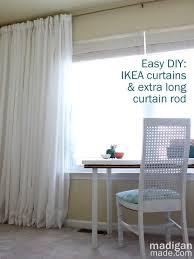 Curtain Rod Ikea Inspiration How To Create An Curtain Rod Rosyscription